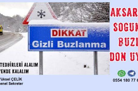 Yoğun Kar Yağışı ve Tipi Aksaray'ı Vurdu