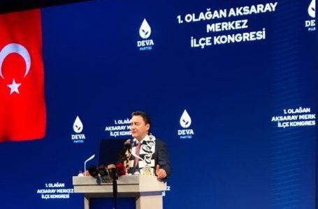 DEVA Partisi Genel Başkanı Ali Babacan Aksaray'da
