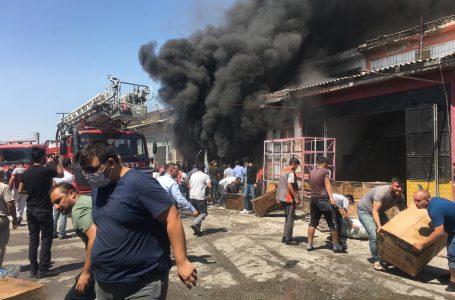 Aksaray Sanayi Sitesinde Korkutan Yangın!!!